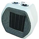 Argoclima Grunge Color blanco 1800W Ventilador - Calefactor (Ventilador, Cerámico, Piso, Mesa, Color blanco, Giratorio, 1800 W)