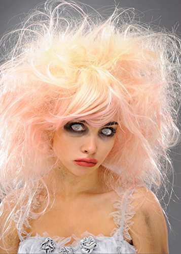 Womens-blond und Rosa Zombie Beauty Queen Perücke