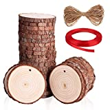 SOLEDI Natürliche Holzscheiben 30 Stück 5-6CM(2,0