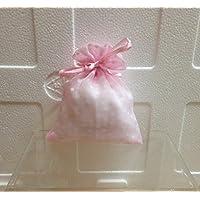 STOCK 20 PEZZI Bustina Sacchetto Portaconfetti porta confetti in organza a pois Rosa