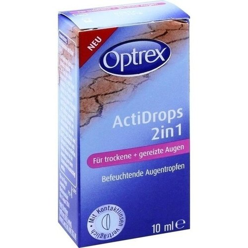Optrex Actidrops 2in1 für trockene+gereizte Augen 10 ml