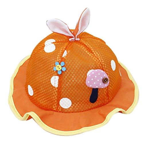 WDOIT Sommer Lovely Light weichen Tuch Mesh Hat waschbar Super atmungsaktiv Prinzessin Gap für Baby unter 1Jahr, Orange, M (Gap Baby Camo)