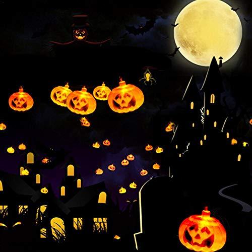 LED-Lichterkette, Kürbis-Lichterkette, solarbetriebene LED, DIY-Dekoration für Halloween/Themenparty/Karneval/Festival/Feier und andere besondere Anlässe