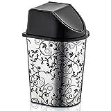 #5: Primeway PlastyLove Designer Plastic Click Dust Bin, 5.7 LTR, Ivy Foil