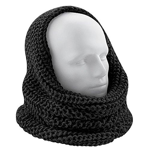 VIZ-UK WEAR - Ensemble bonnet, écharpe et gants - Femme Noir