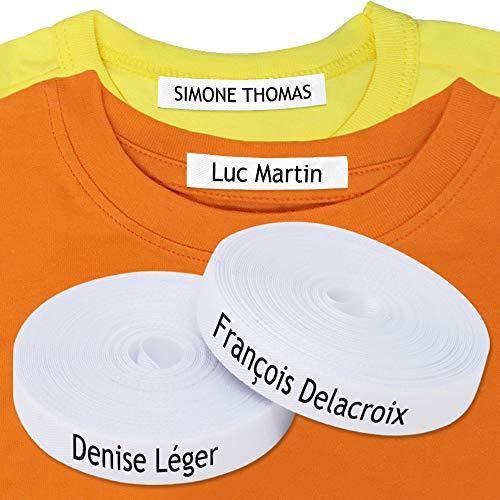 100 Étiquettes vêtements thermocollantes - Les uniques étiquettes autocollantes personnalisées avec CERTIFICAT ÉCOLOGIQUE. Étiquettes tissu à fixer au fer à repasser, conçu pour les enfants.