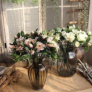 Ukallaite – Ramo de Flores Artificiales para decoración del hogar y 1 Pieza de Camelia Artificial, decoración para Bodas, Fiestas, decoración del hogar, Color Rosa Claro