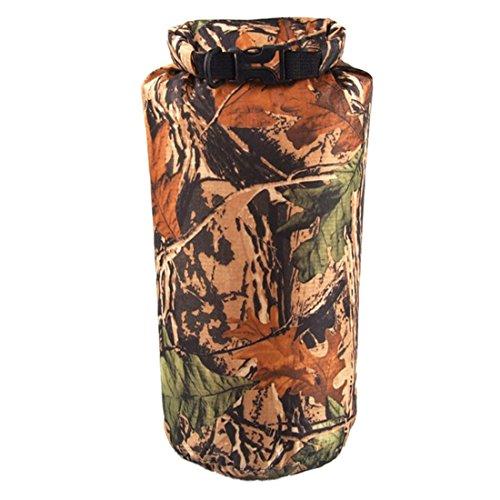 Wasserdicht Kompressions Packsack - LUCKSTONE 8L Wasserdicht Trocken Sack Lightweight Kompression Tasche fuer Bootfahren Kajak Rafting Kanu (Tarnung)