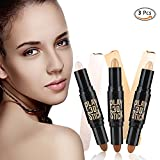 Concealer, 3PCS Powder Teint Makeup Natural Creme Gesicht Augen Concealer Highlight Contour Concealer Pen Stick