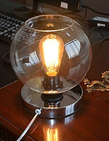 SSBY 60W Lampe de table moderne avec Bud transparent en forme de Shade , 220-240v