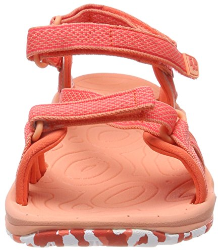 Jack Wolfskin Lakewood Ride Sandal W, Sandales en plein air femme Orange (Hot Coral)