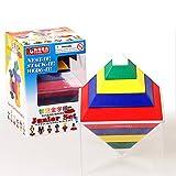 Zantec Spielzeug Rhombus Vielzahl Variable Pyramide Building Blocks Tower Spielzeug Kreative Lichter Spielzeug für Kind