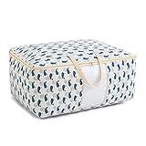 Aufbewahrungstasche Verpackungsbeutel Reißverschluss Baumwolle Leinen Bettwäsche Finishing große Kapazität (Farbe : F)