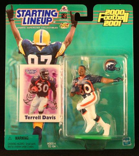 Terrell Davis/Denver Broncos 2000–2001NFL Starting Lineup Aktion steht & Exclusive NFL Collector Trading Card Broncos Football Cards