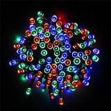 Dealbeta Guirlande Solaire 17M 100 LED Lumineuse Pour Noël, Fête, Décoration Du Jardin, Mariage Sapin, Terrasse, Maison, Pelouse.--Multi-Couleur