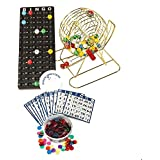 "Complete Brass Plated Party Bingo Game W/EASY-READ 7/8"" Bingo Balls By Mr. Chips, Inc."