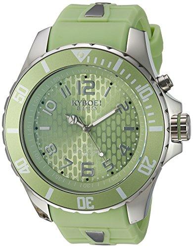 KYBOE Unisex-Adult Analog Quartz Watch with Silicone Strap KY.55-042.15