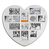 (284) Bilderrahmen HERZ Shabby Look Collage Fotos Fotogalerie Rahmen Antik Weiss
