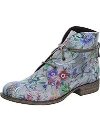 Double You by Dessy 46643WF Damen Stiefelette Desert Boot Blumen-Print Warmfutter