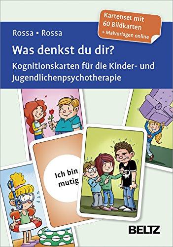 Was denkst du dir?: Kognitionskarten für die Kinder- und Jugendlichenpsychotherapie. Kartenset mit 60 Bildkarten. Mit Illustrationen von Steffen Gumpert. Mit Online-Material