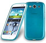 Cadorabo DE-104593 Samsung Galaxy S3 / S3 NEO Handyhülle aus TPU Silikon in gebürsteter Edelstahloptik (Brushed) Türkis