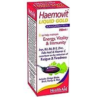 HealthAid Haemovit Gold tonic Liquid - Iron, Malt, B Vitamins - 200ml - Vegetarian