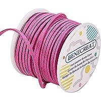 BENECREAT 3mm Faux Suede cordón joyería Que Hace Microfibra Plana cordón Faux Suede cordón de Cuero