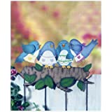 Birds Decorative Wood Fence Topper by Encore