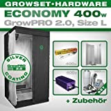 Growbox GrowPRO 2.0 L - Grow Set für Indoor Homegrow - 400W Grow Set Eco