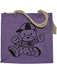 Hydes Jute Lunch Bag, Lunch Box Carry Bag,office, Tote Bag, Size 26x25x11 Cm Easy To Clean With Top Zipper.