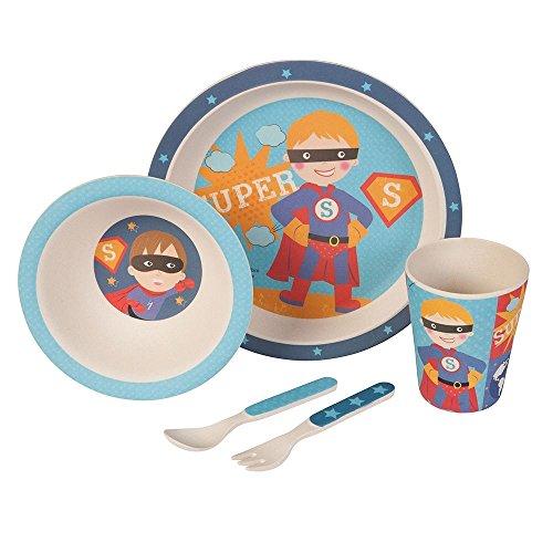 Set–couvert-Superboy-Ustensiles-en-bambou-Ustensiles-pour-enfants-rutilisables-Assiettes-Gobelets-Bol–muesli-cuillre-fourchette-rsistant-au-lave-vaisselle-sans-BPA