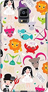 galaxy note 4 back case cover ,Zodiac Signs Designer galaxy note 4 hard back case cover. Slim light weight polycarbonate case