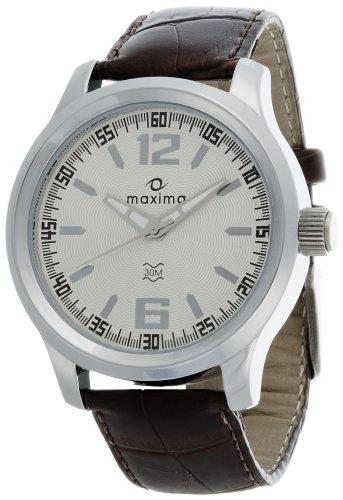 Maxima Attivo Analog Silver Dial Men's Watch - 24055LMGI image