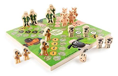 Shaun das Schaf Ludo, lustiges Gesellschaftsspiel für die ganze Familie, Mensch ärgere dich nicht mit Shaun & Co als Spielfiguren, zusammenklappbares Spielbrett mit Stauraum für die Spielfiguren schult das strategische Denken der Kinder, inkl. Würfel