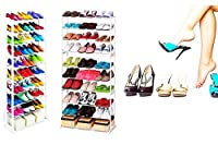 VelKro New Amazing Shoe Rack Portable With 10 Layer Holds Approx 30 Pairs Shoes