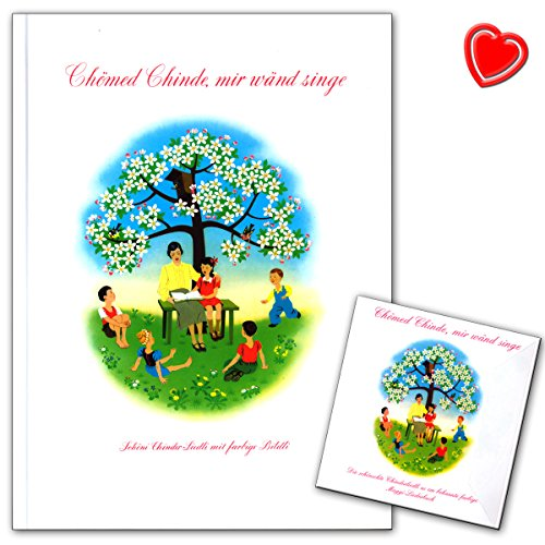 Chömed Chinde mir wänd singe - berühmteste Schweizer Kinderlieder-Bilderbuch mit den zauberhaften Illustrationen - mit bunter herzförmiger Notenklammer - GH10121 9783905847161 (Flug An Der Wand)