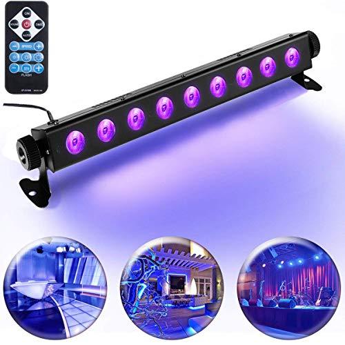 UV LED-Beleuchtung, AONCO Schwarzlicht (9 LEDs x 3W AC100-240V) Partylicht Effektlicht Bühnenbeleuchtung für Club Party Karneval Disco Ballsaal Bühne [Energieklasse A+]