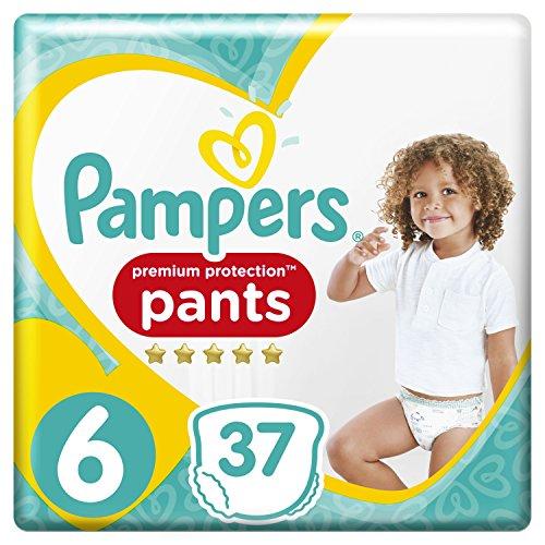 Pampers Premium Protection Pants, Größe 6 (15+ kg), 37 Windeln, 2er Pack