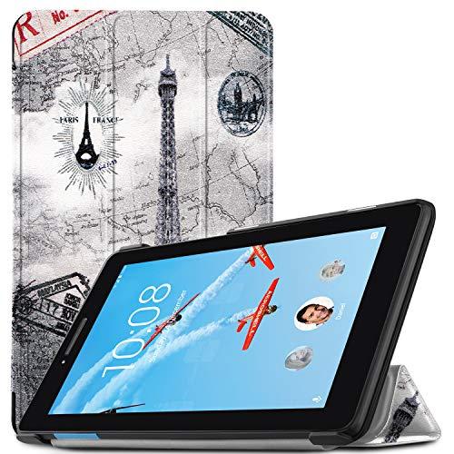 IVSO Hülle für Lenovo TAB E7, Ultra Schlank Slim zubehör Schutzhülle Hochwertiges PU Leder-mit Standfunktion Ideal Geeignet für Lenovo TAB E7 7 Zoll 2018 Tablet PC, CH-07