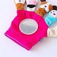 Preisvergleich für Baby-lustiges Spielzeug Scherzt Säuglings-reizende rollende Hand Griff-Plüsch-Spielzeug-buntes Sicherheits-Spiegel-Geschenk