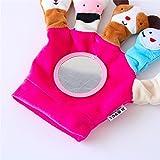 Tery Scherzt Säuglings-Reizende rollende Hand Griff-Plüsch-Spielzeug-Buntes Sicherheits-Spiegel-Geschenk