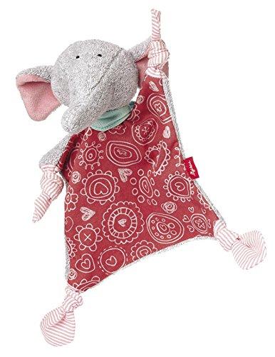Sigikid 41963 - chica Schnuffeltuch elefante Ele Bele, gris / rosa