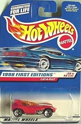 Mattel Hot Wheels 1998 First Editions 1:64 Scale Red Cat-A-Pult Die Cast Car #631
