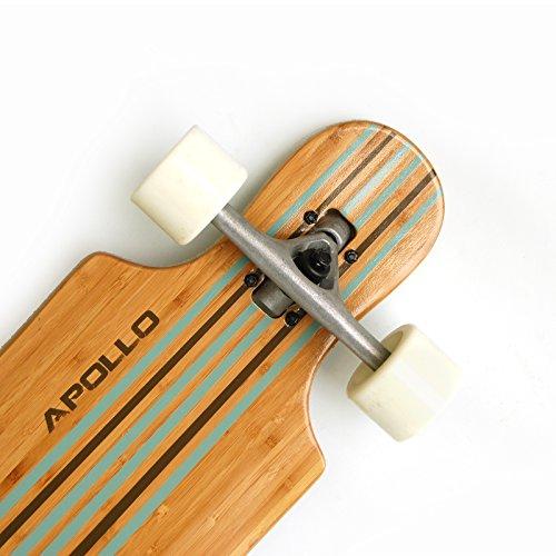 Apollo Longboard Kauai Türkis Stripes Twin Tip DT, Länge: 101cm/39,5inch, Breite: 24,5cm/9inch