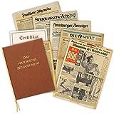 Geschenkidee zum 40. Geburtstag: Zeitung vom Tag der Geburt - historische Zeitung inkl. Mappe & Zertifikat