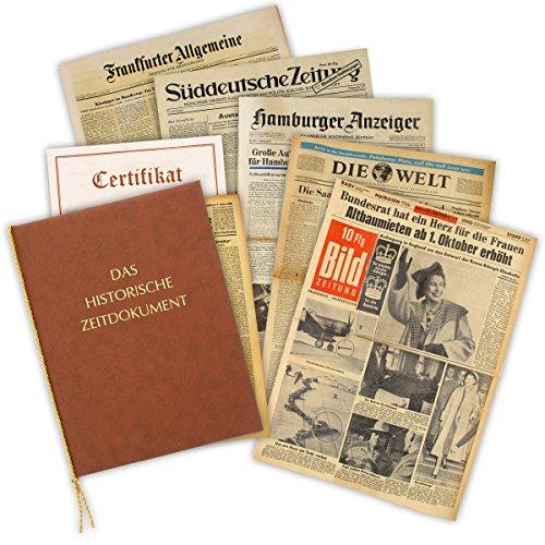 HISTORIA Geschenkidee Zum 80. Geburtstag: Zeitung vom Tag der Geburt - historische Zeitung inkl. Mappe & Zertifikat