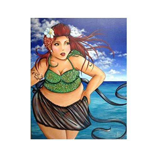 Pengyu DIY 5D Diamant, der Malerei Kunstharz Stickerei Kreuzstich Bilder Arts Craft für Home Wand Decor Fat Frau Muster, Siehe Abbildung, 8353 (Stickerei-software)