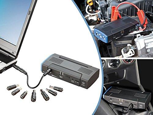 reVolt Autostarthilfe: Notebook-Powerbank mit Kfz-Starthilfe & 2X USB, 12.000 mAh / 400 A (Powerbank Zigarettenanzünder)