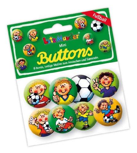 Lutz Mauder Lutz mauder67234Fritz Flanke Fußball Mini Button Set (8-teilig) (Fußball-buttons)