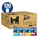 Felix - Nourriture pour chat, Tuna and Cod, Shrimp and Plaice, Chicken and Kidney, Duck and Lamb